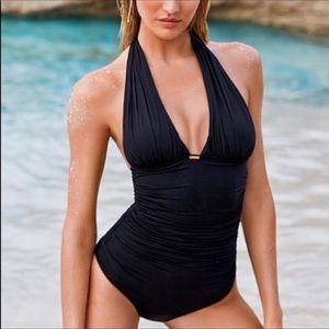 Victoria's Secret Black Halter One Piece Swimsuit